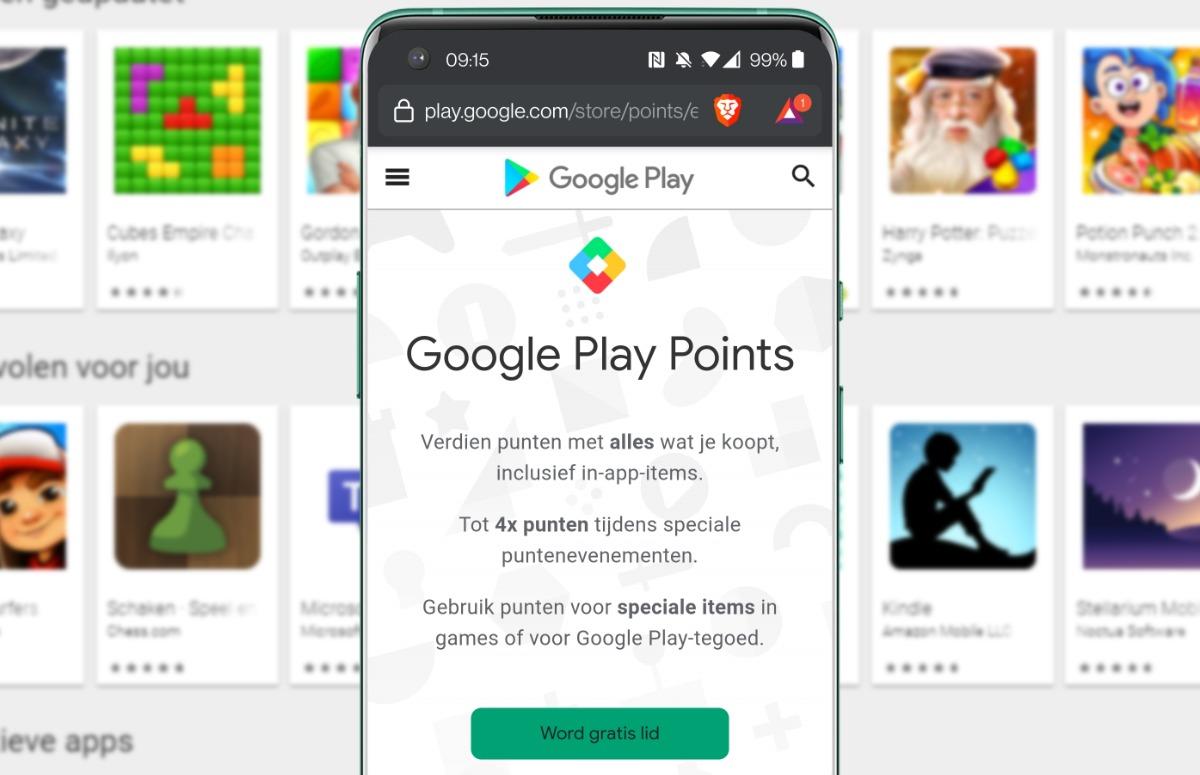 Google Play Points nu beschikbaar: punten sparen voor gratis Android-apps – update