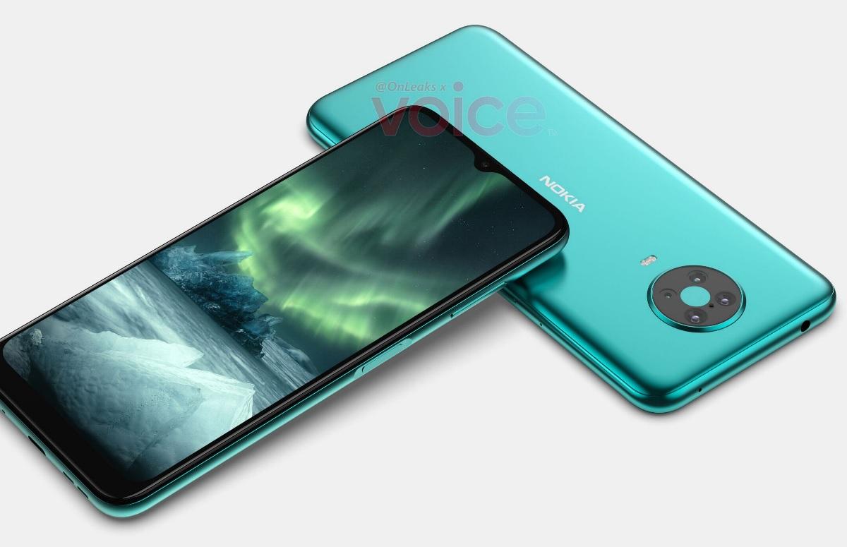 'Nokia 6.3-renders tonen vier camera's en vingerafdrukscanner in zijkant'