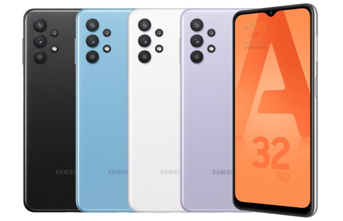 'Officiële renders Samsung Galaxy A32 5G tonen strak ontwerp'