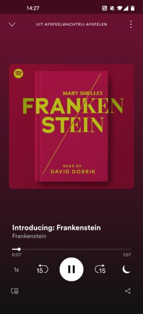 Spotify - audioboek Frankenstein