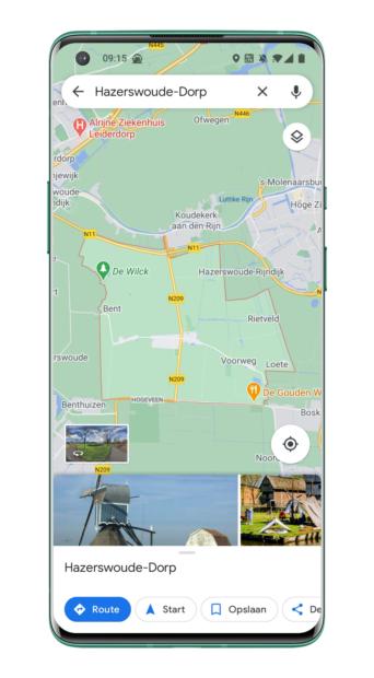 Google Maps - Live Beschrijving