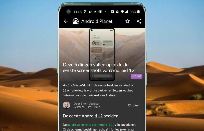 Android-nieuws #6: Android 12, Xiaomi Mi 11 naar Nederland en Android Auto