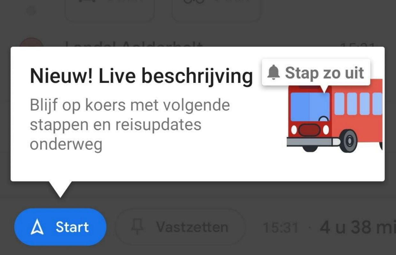 Tip: zo gebruik je 'Live beschrijving' van Google Maps in het OV