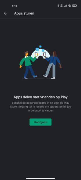 Google Dichtbij Delen - Play Store