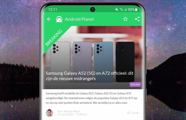 Android-nieuws #11: Samsung Galaxy A52 officieel, Nokia en nieuwe Google Nest Hub