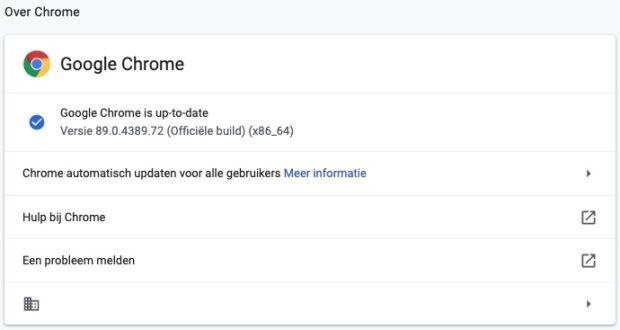 google chrome updates
