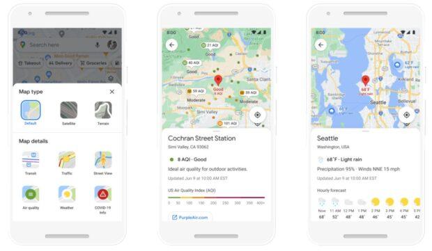 Google Maps milieu