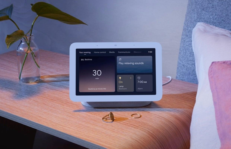 Google onthult nieuwe Nest Hub: slim scherm kan je slaap bijhouden