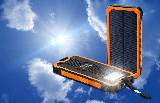 Powerbank met zonnepanelen