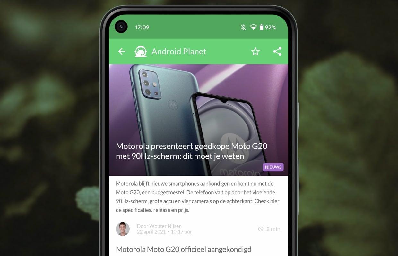 Android-nieuws #16: Motorola G20, Fitbit Luxe en Galaxy S21 Plus-prijsdaling