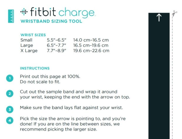 Fitbit - wristband sizing tool