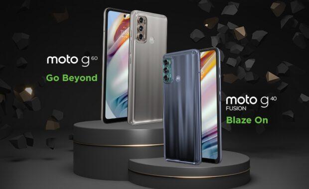 Motorola Moto G40 Fusion en Moto G60
