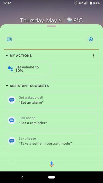 Google Assistent - kleurrijke interface
