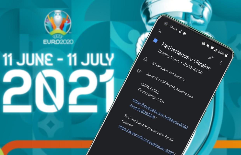 EURO 2020: Zo zet je het speelschema van het EK 2021 in je agenda