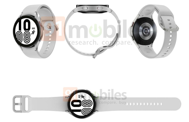 'Officiële renders tonen Samsung Galaxy Watch 4 met nieuw design'