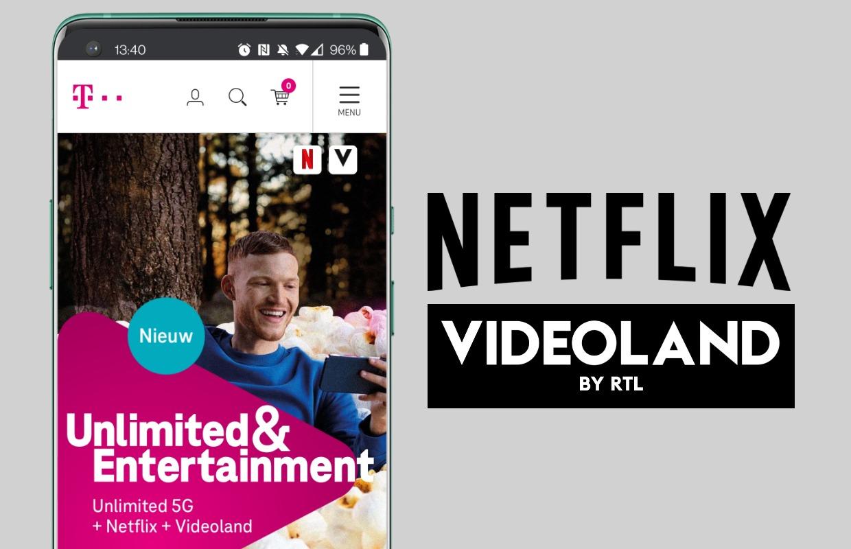 T-Mobile bundelt Netflix en Videoland in nieuw telefoonabonnement