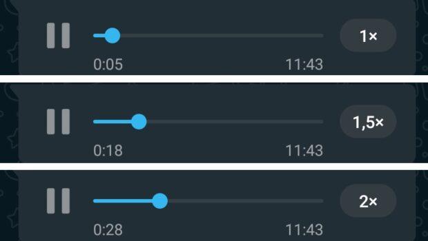 WhatsApp audiosnelheid