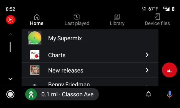 YouTube Music - Android Auto