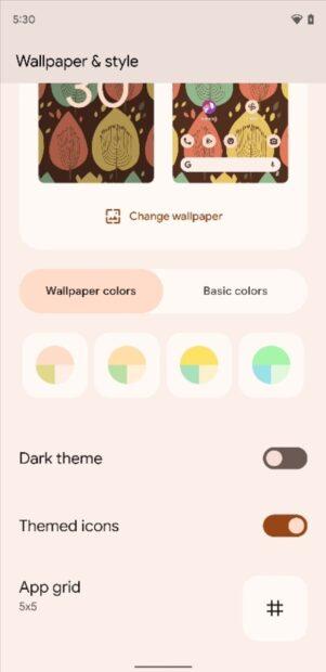 Android 12 - thema-iconen