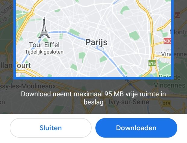 verstopte google maps-features