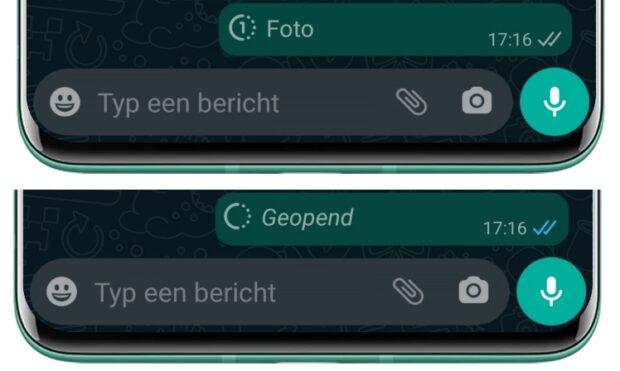 WhatsApp eenmalige foto