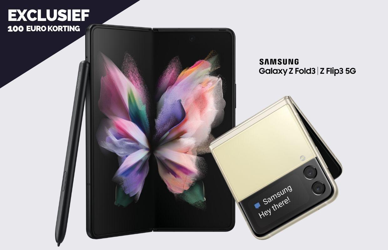 Exclusief: scoor 100 euro korting op de Samsung Galaxy Z Fold 3 of Z Flip 3
