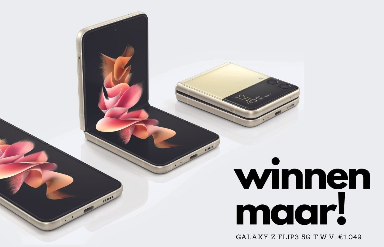 Win de nieuwe Samsung Galaxy Z Flip3 5G t.w.v. 1049 euro (ADV)