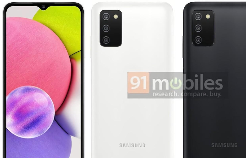 'Goedkope Samsung Galaxy A03s te zien op gelekte afbeelding'