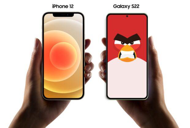 Samsung Galaxy S22 formaat