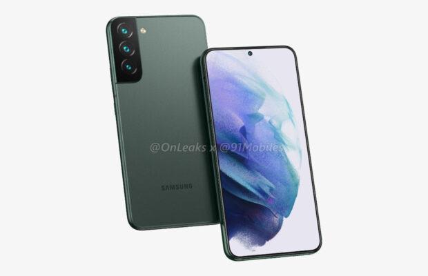 Samsung Galaxy S22 renders