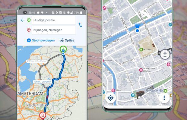 Alternatieven voor Google Maps