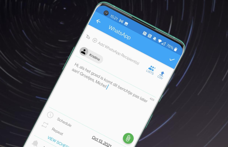 Een WhatsApp-bericht inplannen: zo kun je automatisch appen
