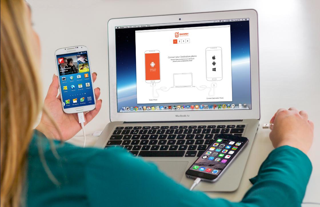 Nederlandse app Swopey maakt telefoondata overzetten makkelijk