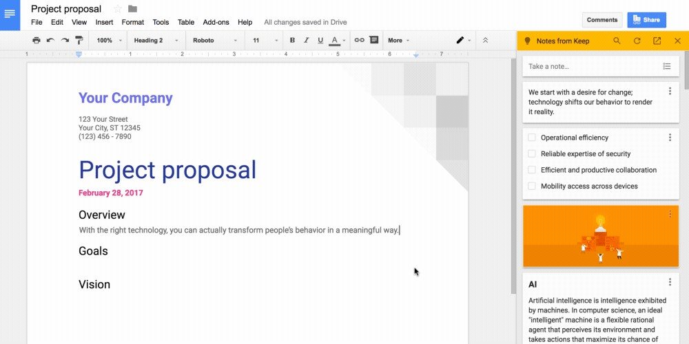 Google Keep G Suite