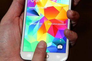 vingerafdrukscanner Galaxy S5