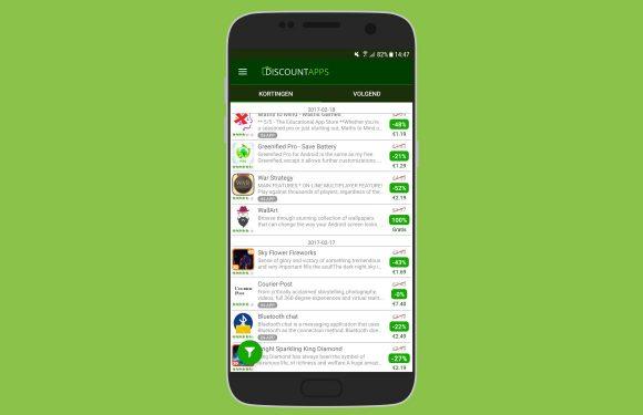 Discount Apps: blijf op de hoogte van alle Play Store-kortingen