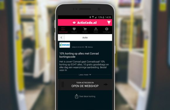 Koopjes jagen met de Actiecode-app voor Android