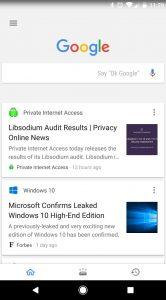 Google tabbladen