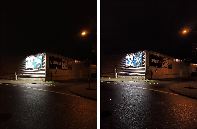 Nokia 7.2 - nachtmodus uit vs aan