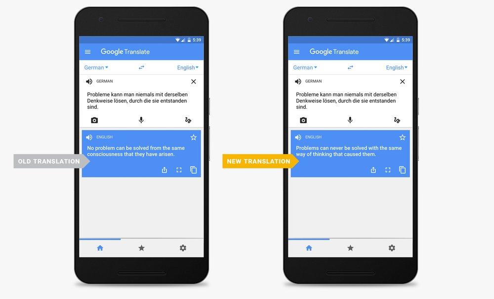 Google Translate Neural Machine Translation