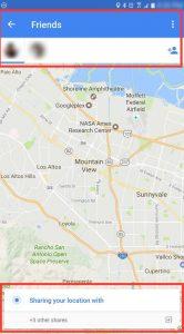Google Maps locatie delen